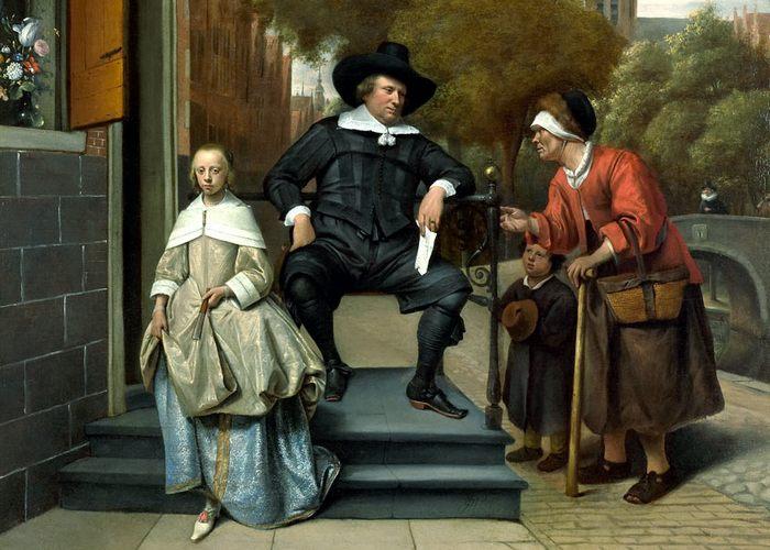 Фрагмент картины «Жители Делфта»./ Фото: curiator.com