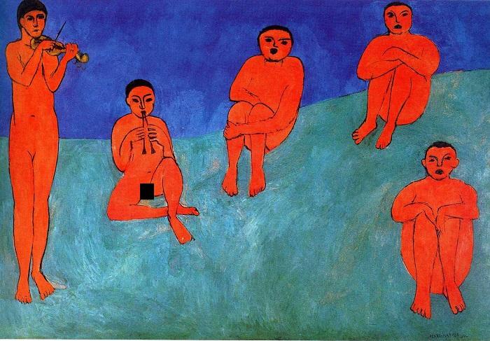 Восстановленная картина Матисса.