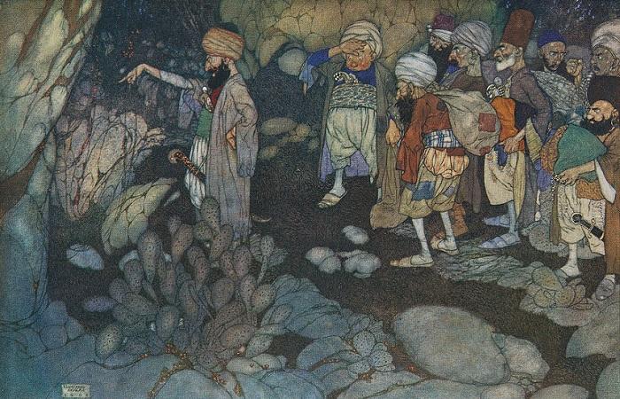 Сказка про Али-Бабу, может быть, полностью европейская придумка. Иллюстрация Эдмунда Дюлака.