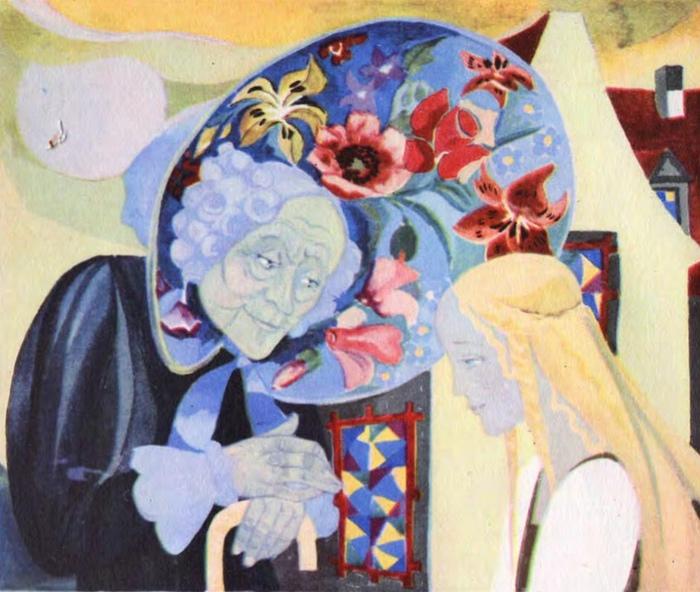 Герда и старушка с цветами.