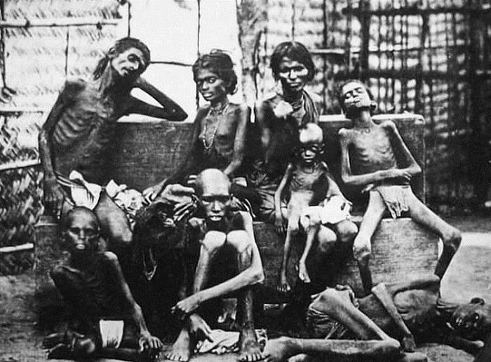 Англичане неоднократно устраивали голод в Бенгали, вплоть до сороковых годов двадцатого века, когда под предлогом войны с Японией из края вывезли все запасы риса.