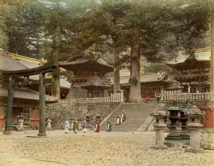 Синтоистский храм, конец девятнадцатого века.