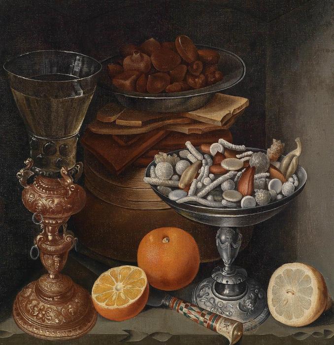 Натюрморт со сладостями от немецкого художника эпохи Возрождения Георга Флегеля.
