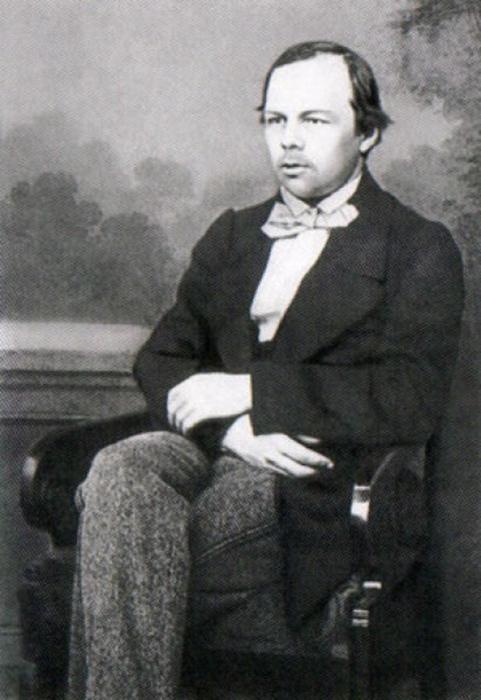Портрет Достоевского в молодости.