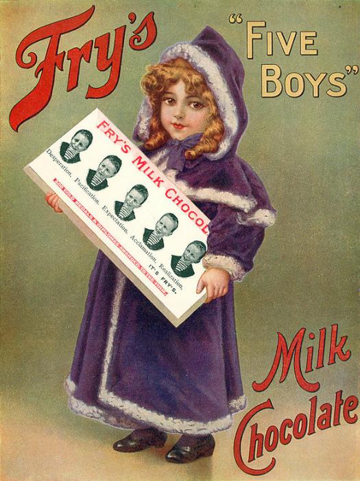 Реклама молочного шоколада.