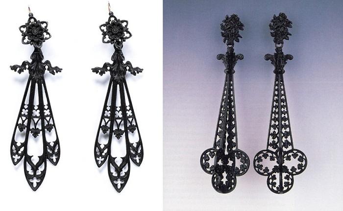 Завод выпускал все нужные дамам украшения, например, серьги из чугуна.
