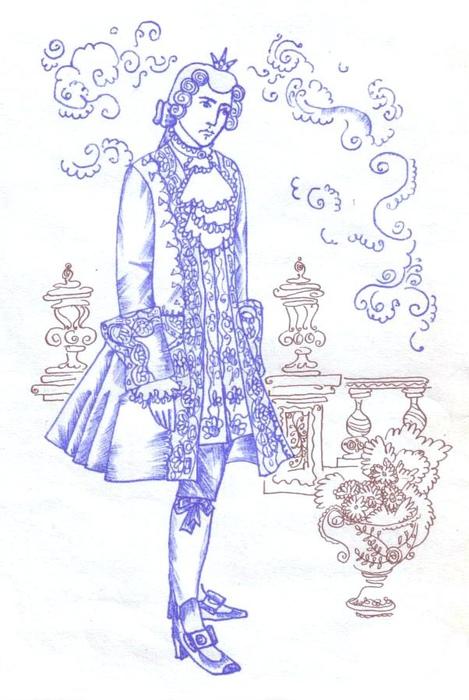 Иллюстрация к сказке «Свинопас». Принц переживает унижение.