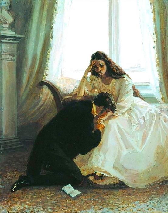 Татьяна к концу романа как персонаж вырастает. Иллюстрация Лидии Тимошенко.