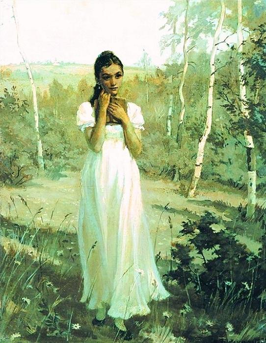 Многие спорят о возрасте Татьяны Лариной. Иллюстрация Лидии Тимошенко