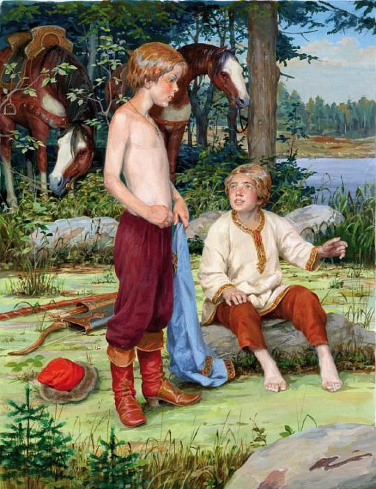 Княжичи древнерусских земель с малых ногтей представляли своих отцов в дальних уделах. Иллюстрация Дениса Гордеева.
