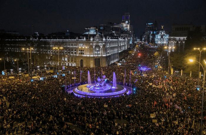 Масштабы испанской демонстрации вышли впечатляющими.