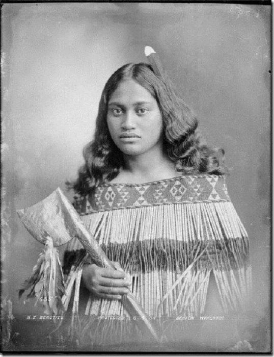 Девушка маори, фотография 1904 года.