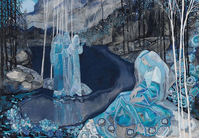 Волшебное кружево рисованых сказок Тамары Юфа: почему советские коллекционеры за ними гонялись. Иллюстрация к «Калевале».