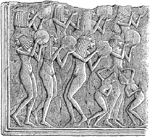 Египтянки, танцующие с бубнами.