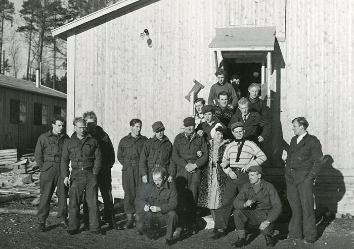 Участники норвежского сопротивления на тренировочной базе в Швеции.