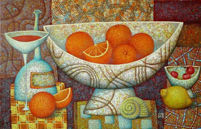 Апельсины на картине Александра Сулимова.