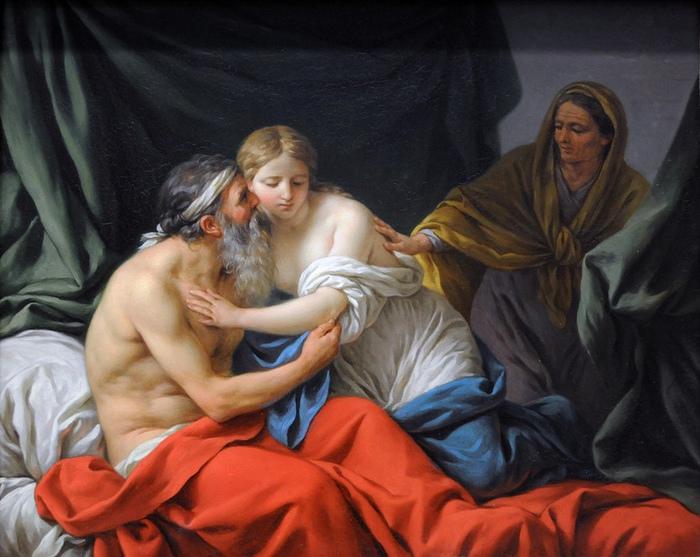 Авраам, Агарь и Сарра на картине Луи Жана Франсуа Лагрене.