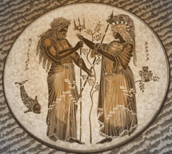 Один из постоянных противников Афины - бог морей Посейдон