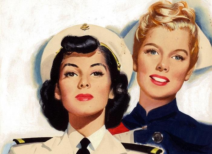Девушки сороковых были очень активны, в пятидесятых - не представляли себе будущего с карьерой.