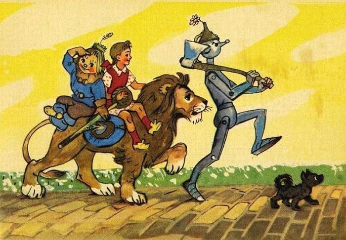 Все в волшебной стране ведут себя с Элли, как со взрослой, даже если дружелюбно. Иллюстрация Леонида Владимирского.