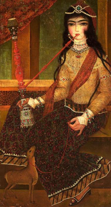 Девушка с кальяном.