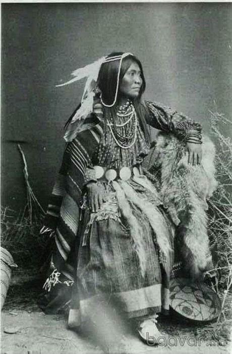 Женщина народа чероки.