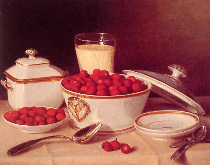 В девятнадцатом веке клубнику со сливками уже точно подавали. Картина Фрэнсиса Джона Вубурда.