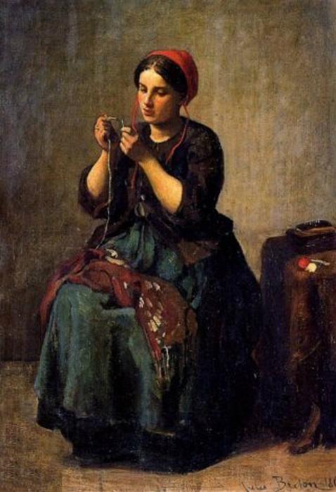 Портрет швеи от Жюля Бретона.