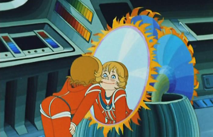 У настоящей Алисы тоже были светлые волосы и голубые глаза. Кадр из мультфильма Тайна третьей планеты