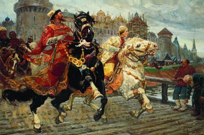 Веселье выбравшегося на свободу Ивана было жестоким. Картина Михаила Авилова.