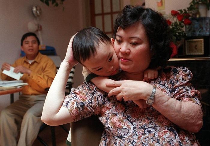 Ким Фук со своими родными.