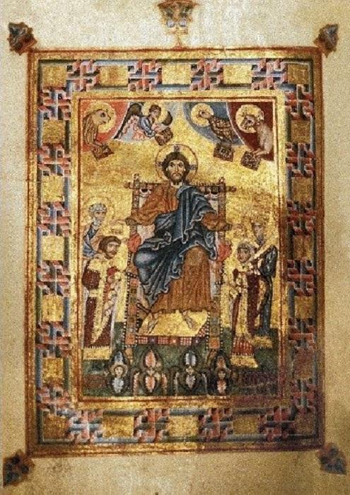 Миниатюра из молитвенника Гертруды.