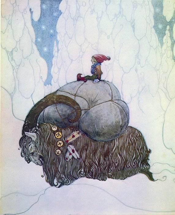 Лапландские мотивы можно найти на многих его рисунках.