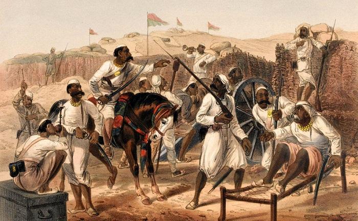 Сипаев в британских войсках в Индии было больше, чем англичан, платили им меньше и кидали во все горячие точки.
