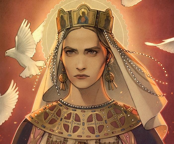 Это изображение Ольги ходит по интернету с подписью *Дракарис*.
