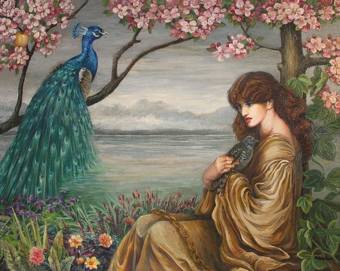 Увы, богини, защищавшие женщин, не могли защитить даже самих себя. Геру изнасиловал её брат Зевс, после чего ей пришлось стать его женой. Портрет Геры от Данте Габриэля Росетти.