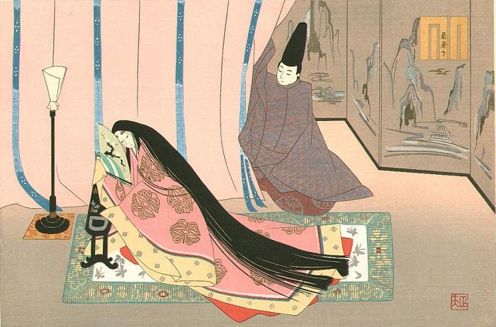 В эпоху Хэйан мужчины заводили множество жён, наложниц и любовниц, и придворные дамы им мало уступали по крайней мере в отношении любовников.