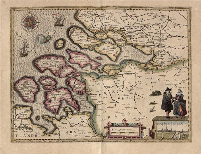 Старая голландская карта.