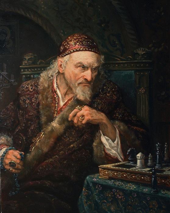 Ивана Грозного в старости принято изображать бородатым. Зря.