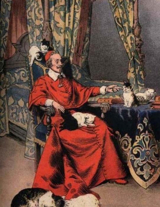 Любовь кардинала к котам стала притчей во языцех.