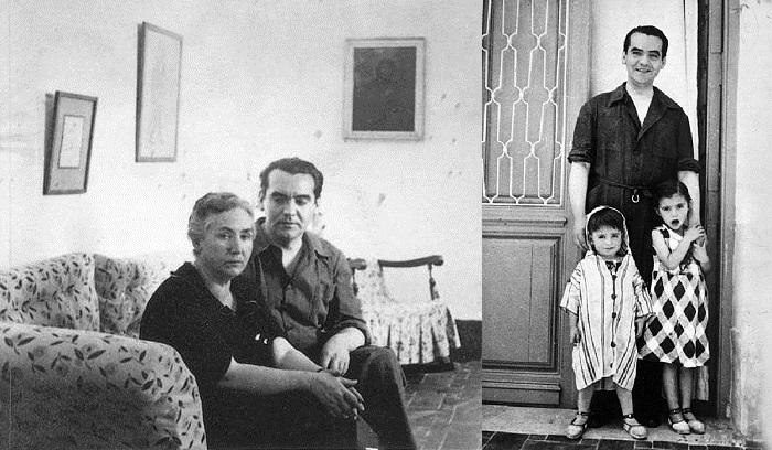 Дон Федерико с матерью и племянниками.