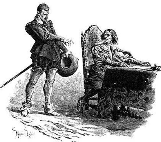 Шут Шико на иллюстрациях к произведениям Дюма.