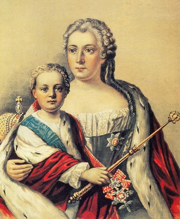 Император Иоанн с матерью.