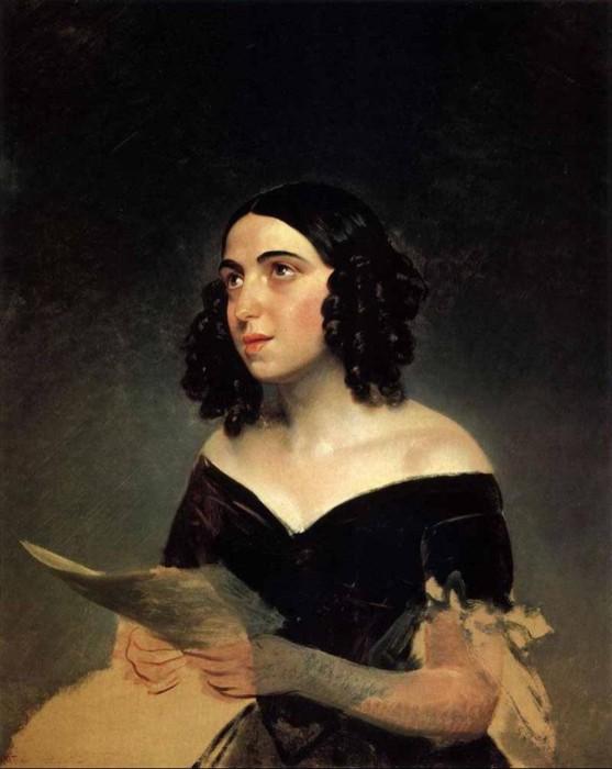 Портрет молодой Полины Гарсиа.