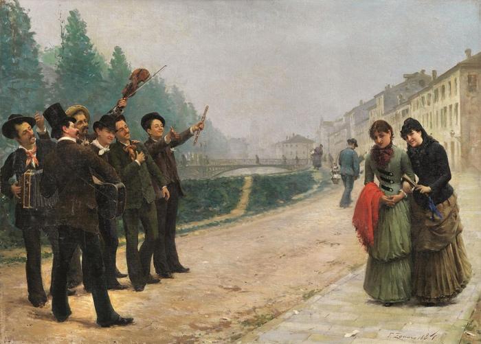 Серенада на картине Дзонаро.
