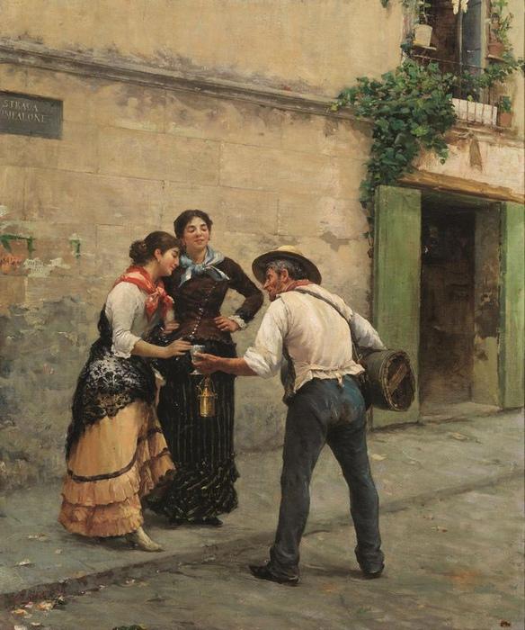 Продавец лимонада на картине Дзонаро.