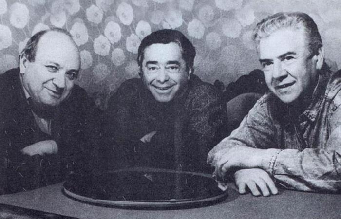 Жванецкий, Карцев и Ильченко.
