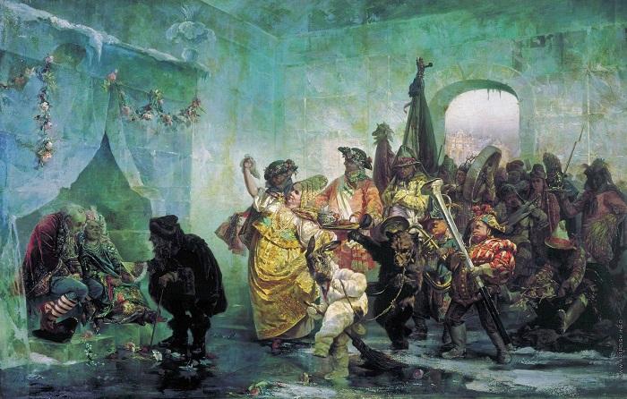 Картина Валерия Якоби, изображающая страшную свадьбу.