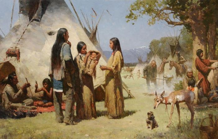 Что ели, чем торговали и как жили индейцы до Колумба: Стереотипы против фактов. Картина Жу Ляня.