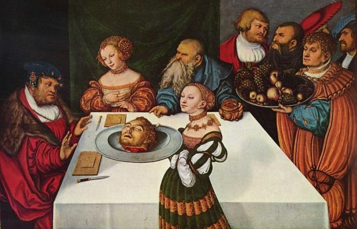 Как изощрялись на пирах в давнем и недавнем прошлом. Картина Лукаса Кранаха Старшего.